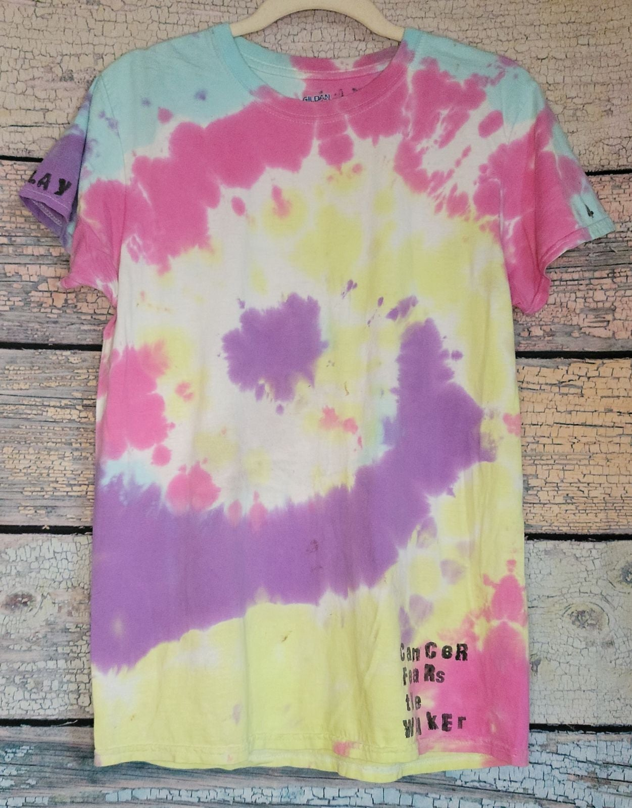Cancer run Tie dye shirt