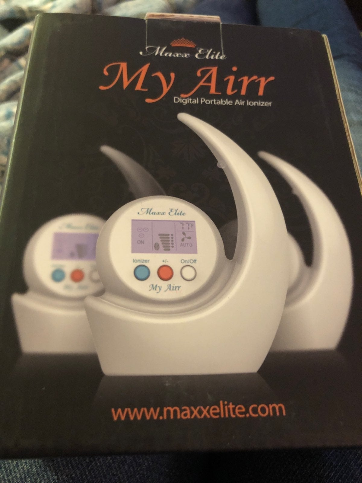 Mini Desk Air Ionizer NIB