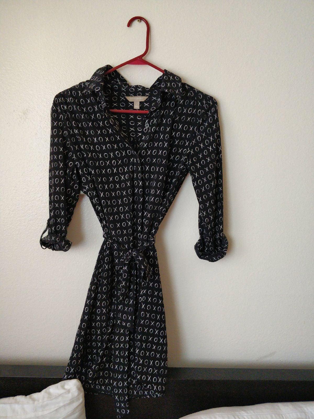 XO Print Belted banana republic Dress
