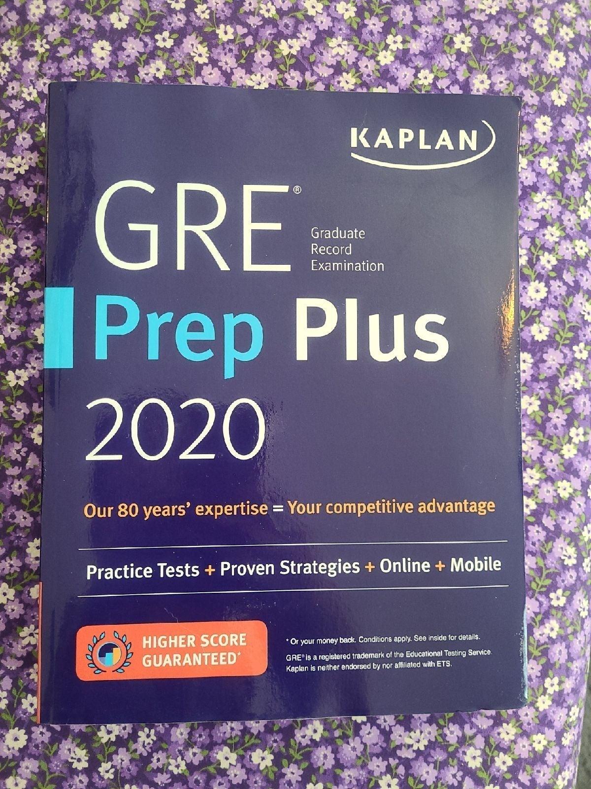 Kaplan GRE Prep Plus 2020 (Brand New)