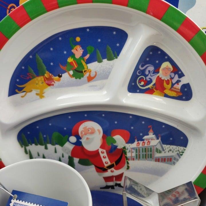 Santa Plate & Mug Gift Set 2012 USPS