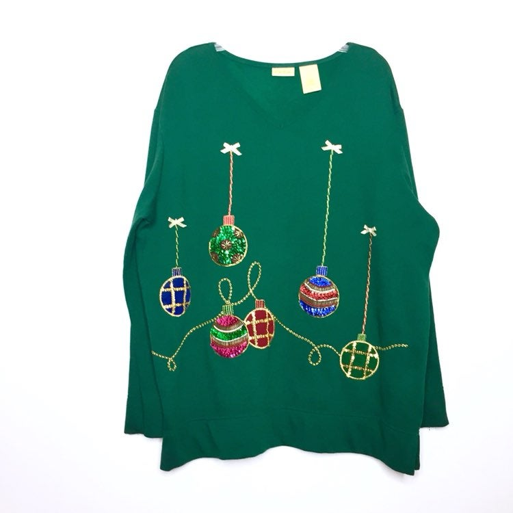 Bobbie Brooks Ornament Sweatshirt
