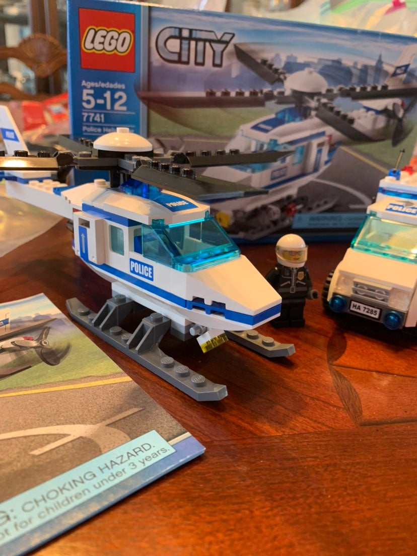 Lego City 7741 and 7285 Police Helicopte