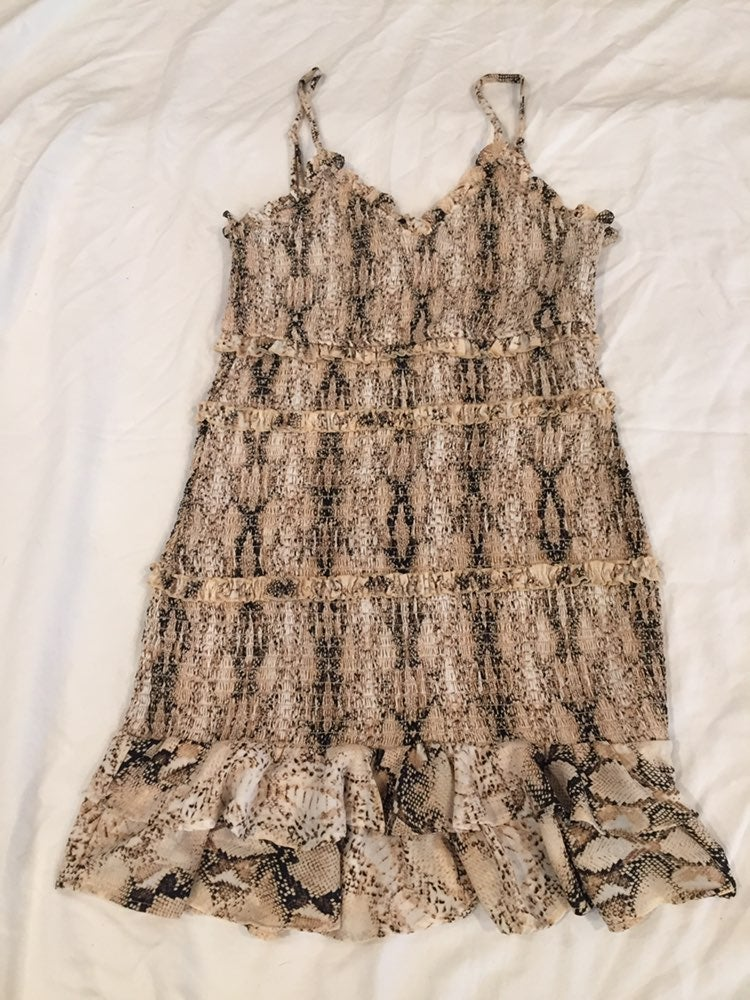 Olivaceous Snake Skin Dress Large