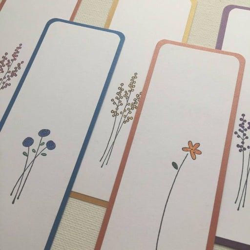 set of 5 handmade bookmarks flowers