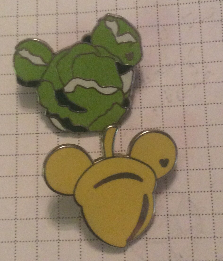 2 WDW Hidden Mickey Food Series Pins