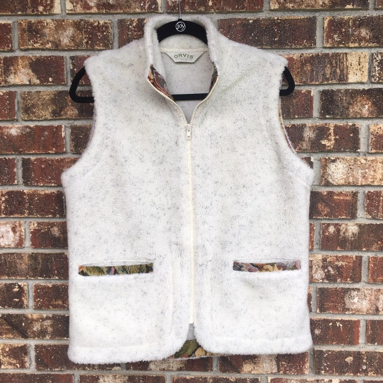 Orvis Fleece Vest Cream Womens Medium