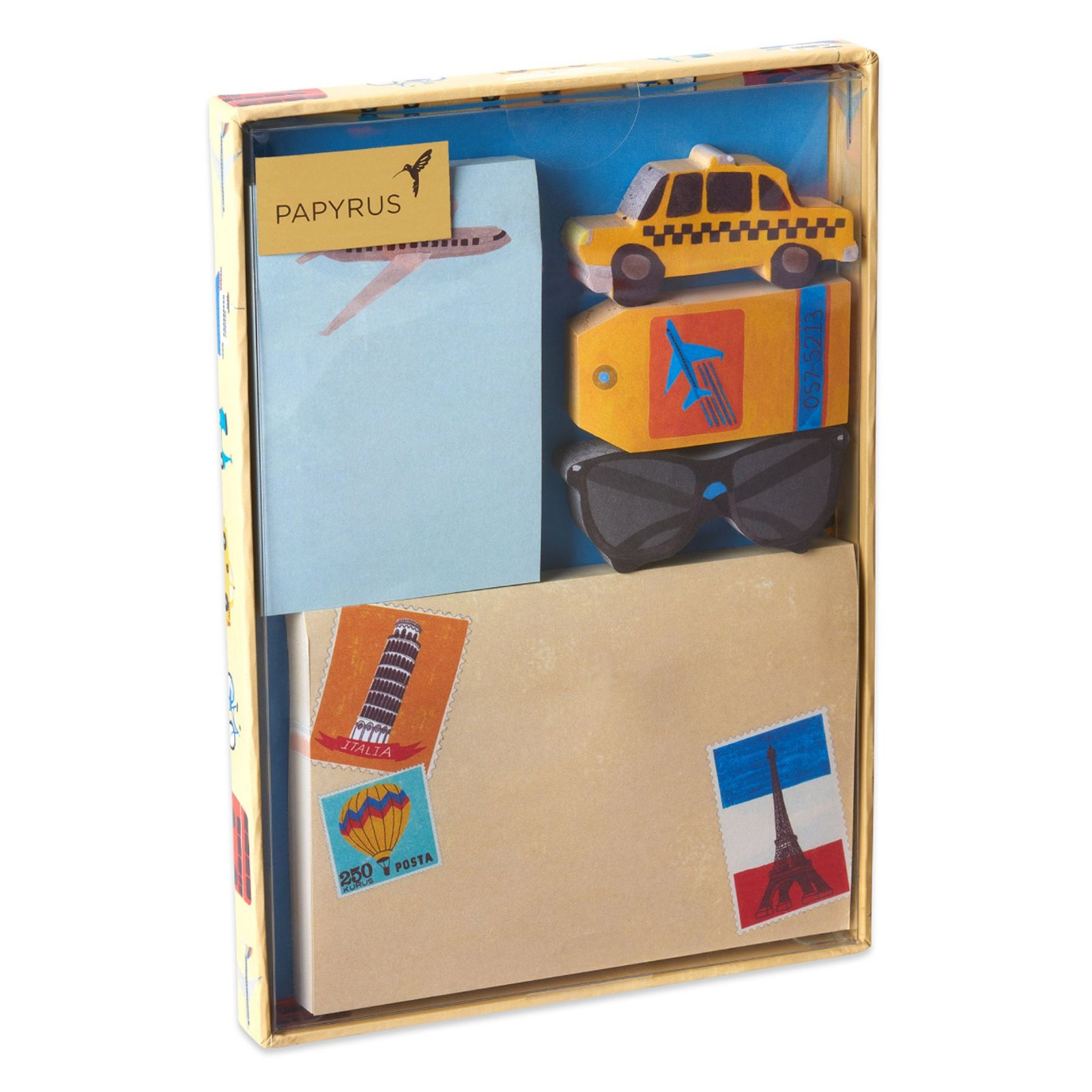 Papyrus Travel Sticky Notes Set, 5 Count