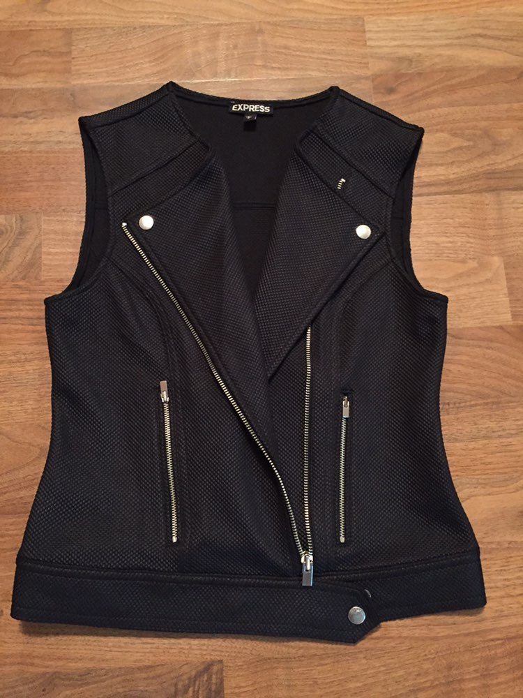 Express Black Sleeveless Jacket/Vest