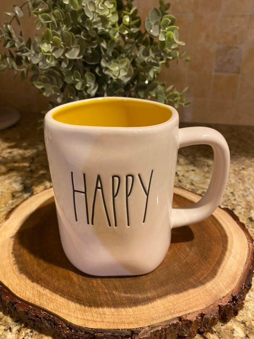 Rae Dunn HAPPY Coffee Mug