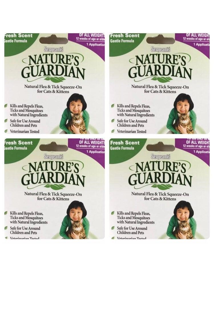 4 Natural Flea Tick Treatment Cats Lot