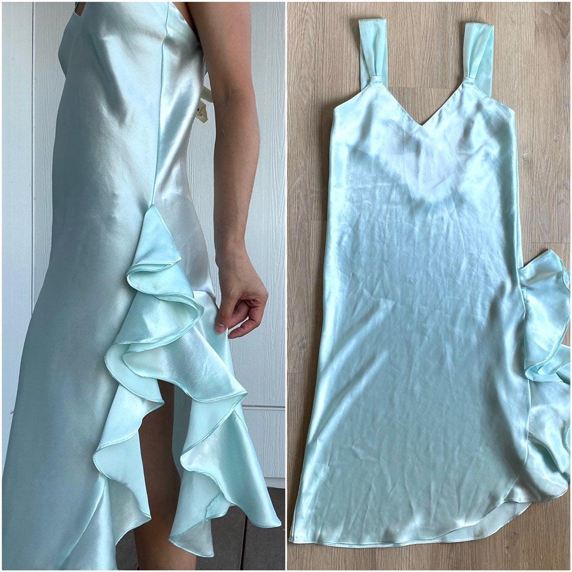 Vtg Victoria's Secret Silky Slip Dress