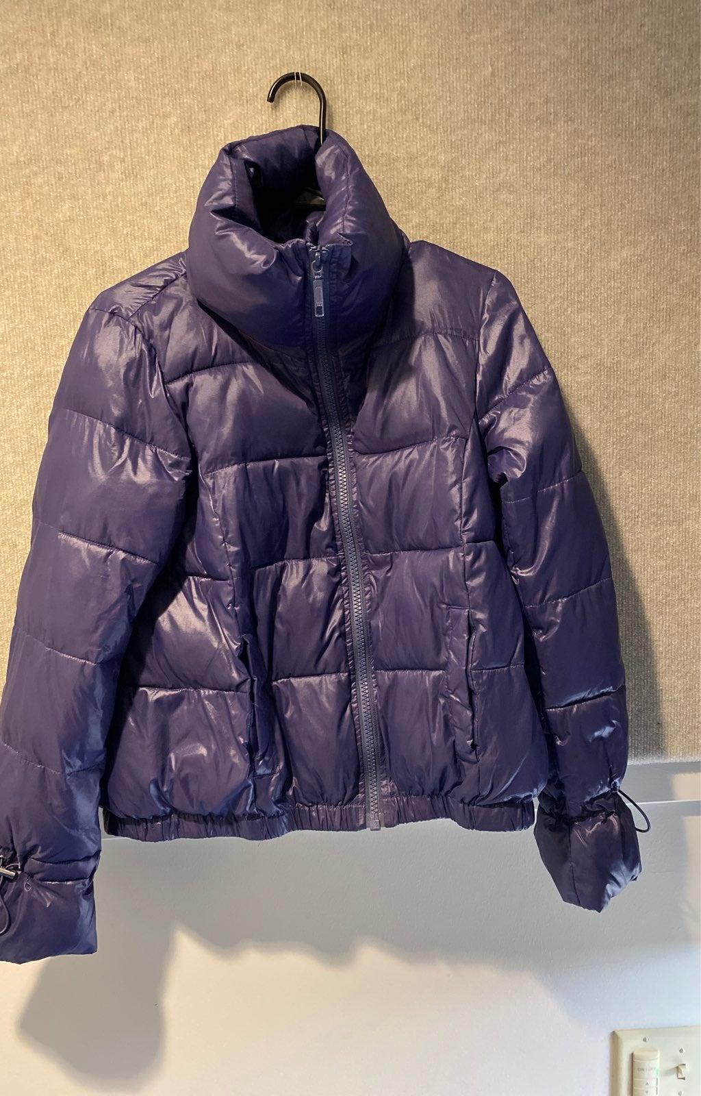 LOFT purple puffer winter coat