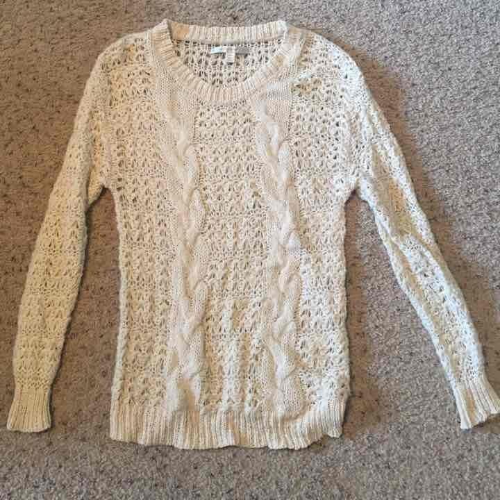 Lauren Conrad cream knit sweater