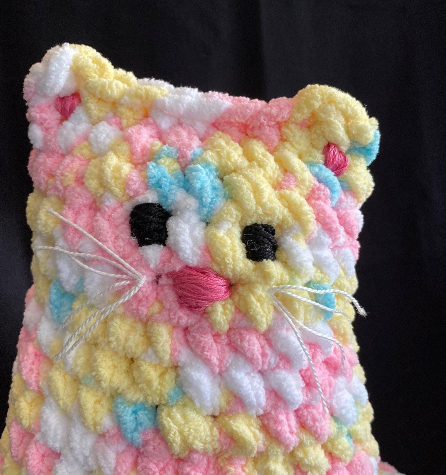 Handmade crocheted plush kitty