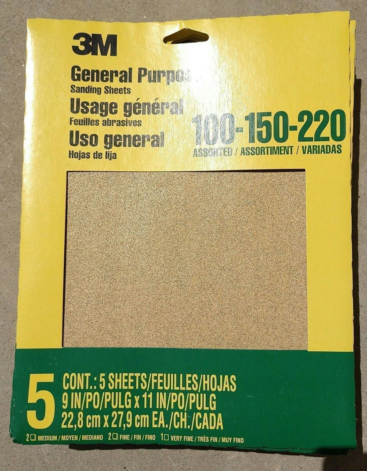 SANDPAPER 18 Packs of 5 sheets each