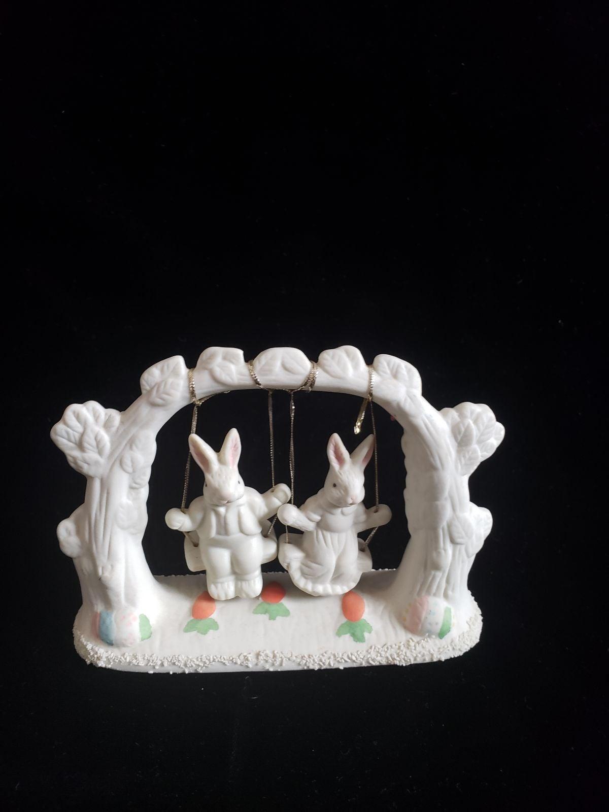 Jade Collection Bunnies porcelain