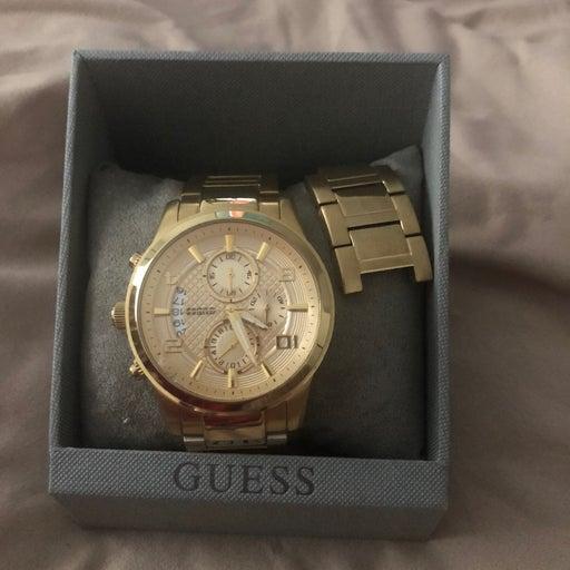 mens guess steel watch