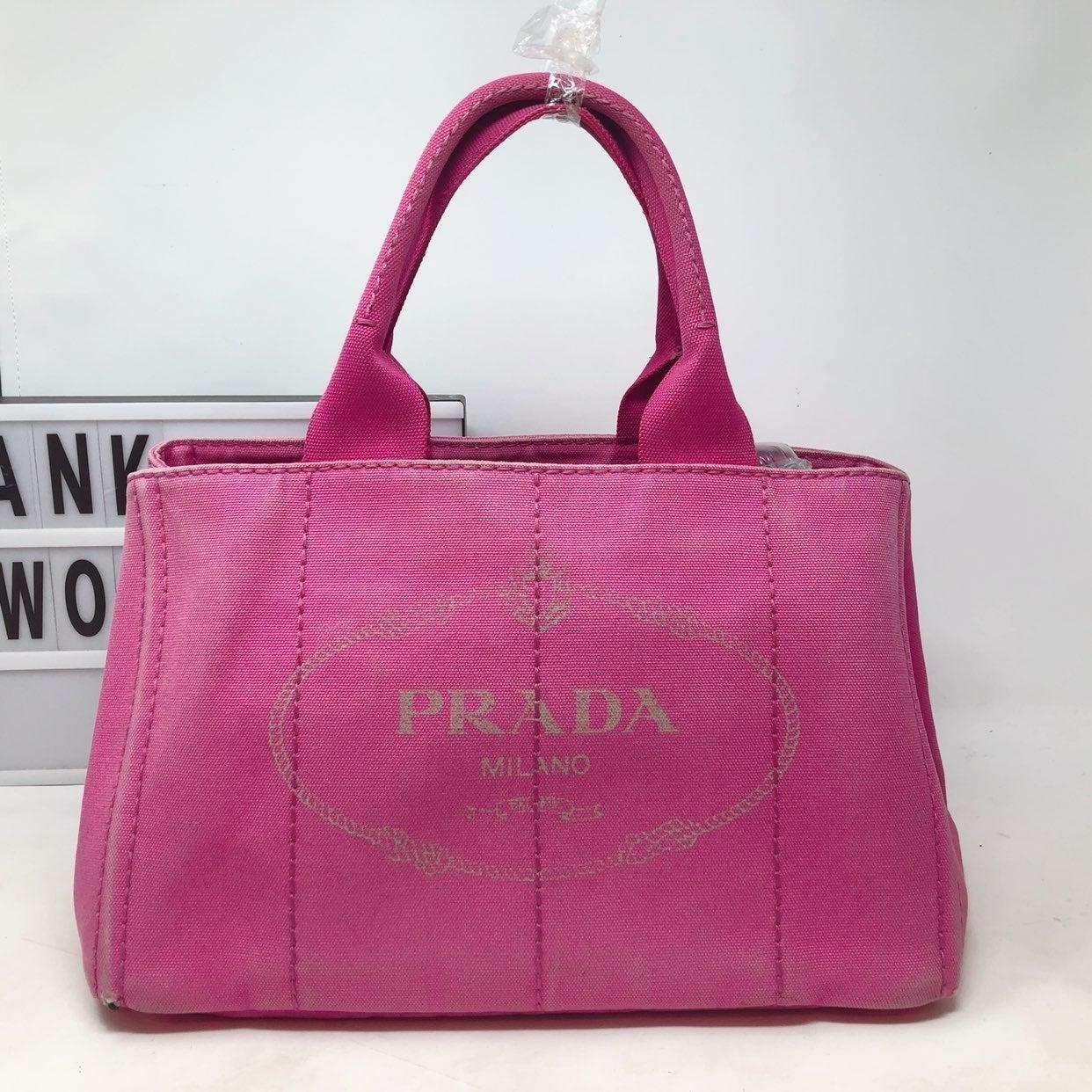 Prada Milano Canapa Pink Tote bag