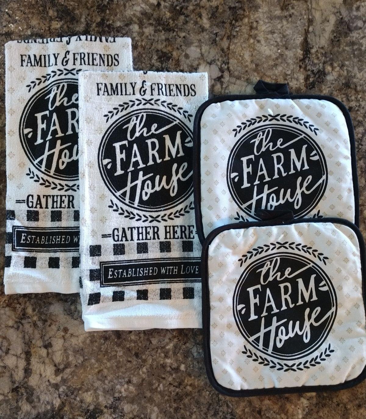 Farmhouse Kitchen Towel Set