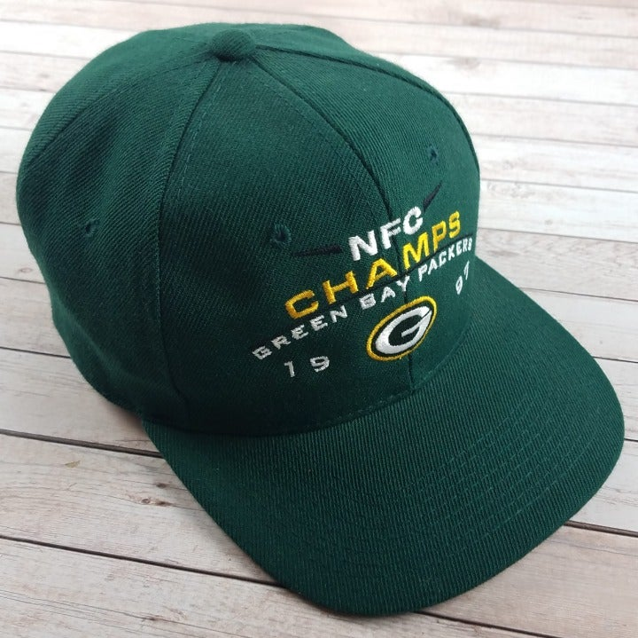 VTG 90s Green Bay Packers NFC Champs Hat