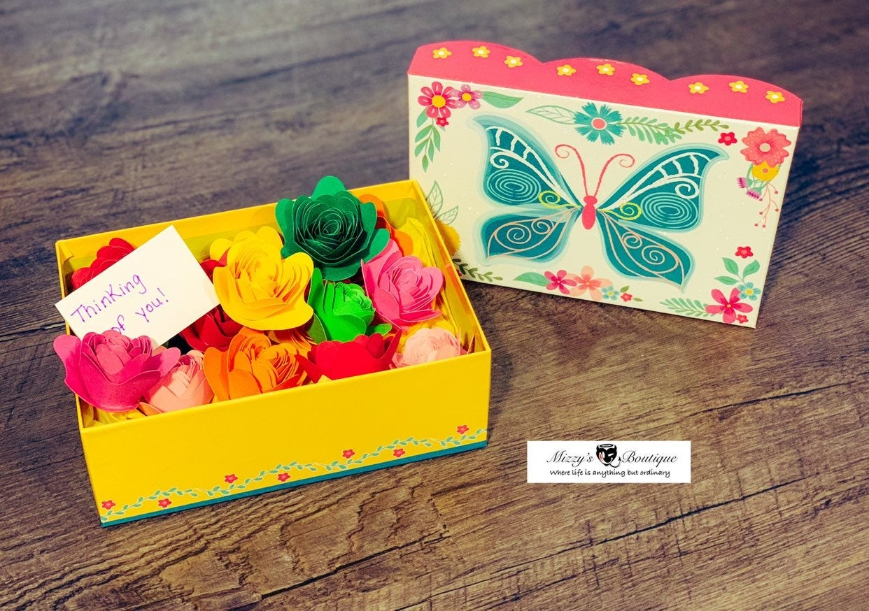 Forever Flower Boxes - Handmade Paper As