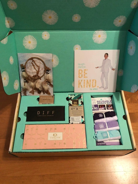 Ellen Degeneres charity box