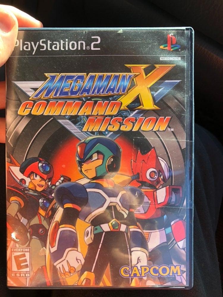 PS2 megaman x command mission