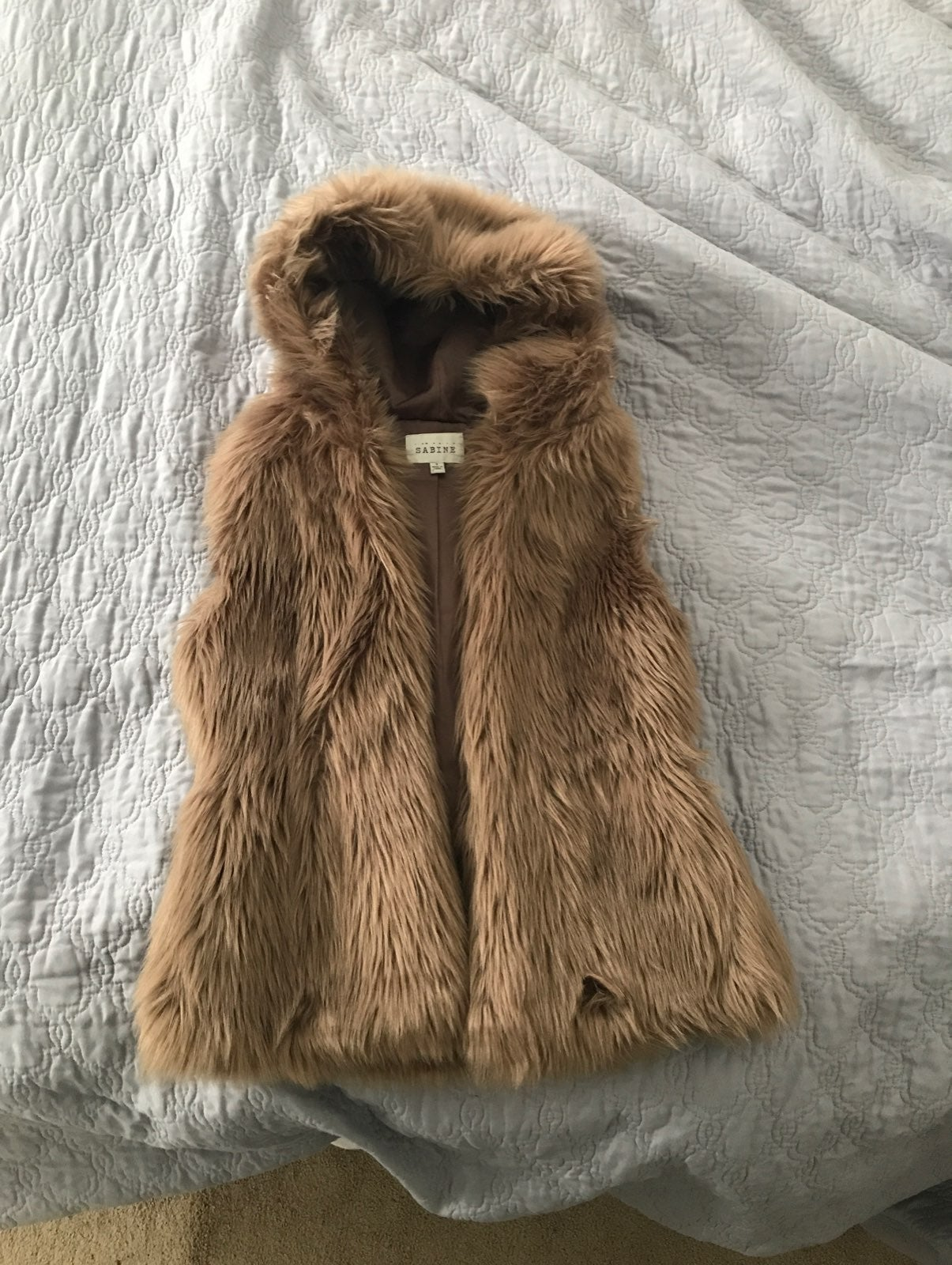 Women's Faux Fur Hooded Vest