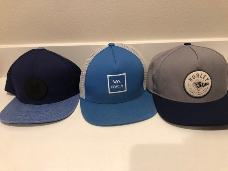 3 hurley va rvca Snapback Hats mens
