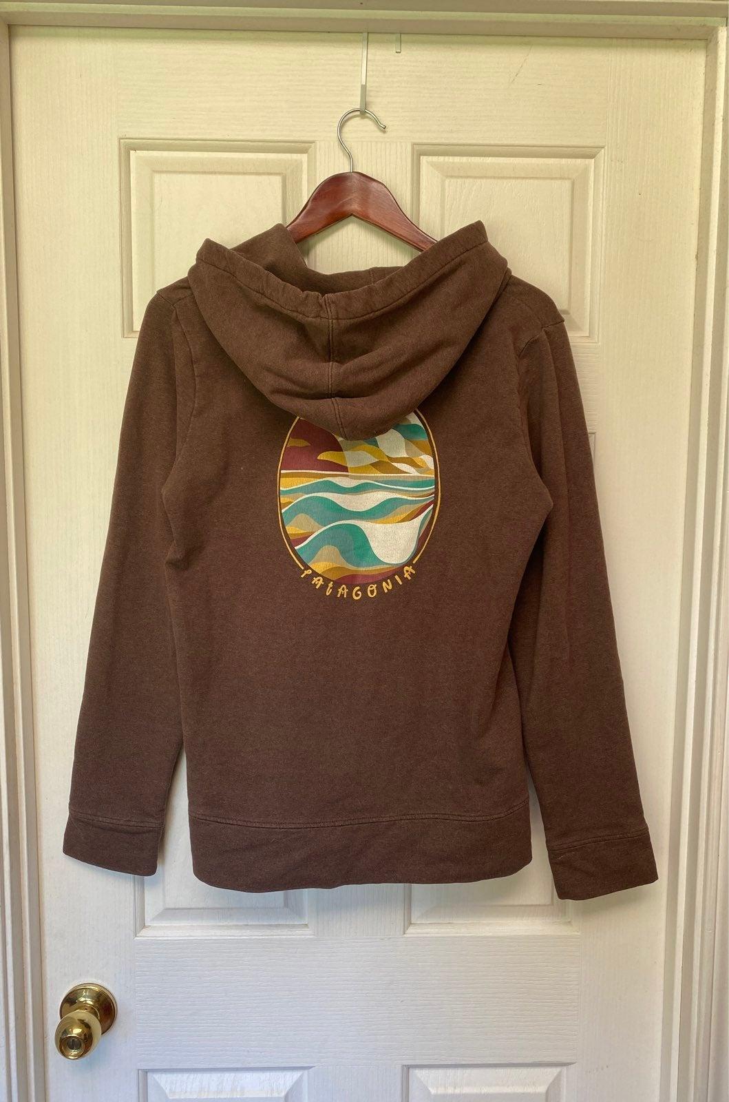 Patagonia Organic Cotton Brown Hoodie
