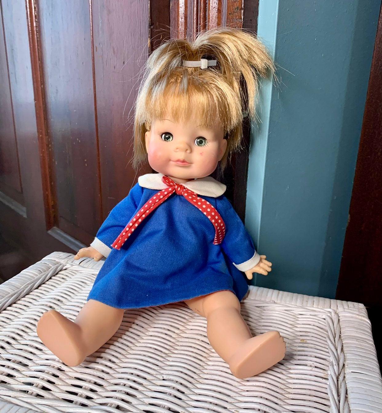 Doll vintage blond hair
