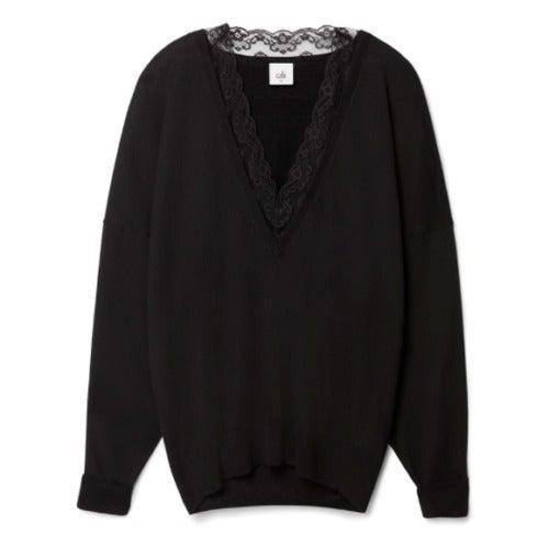 Cabi NWT Black Large Union Sweater #5632