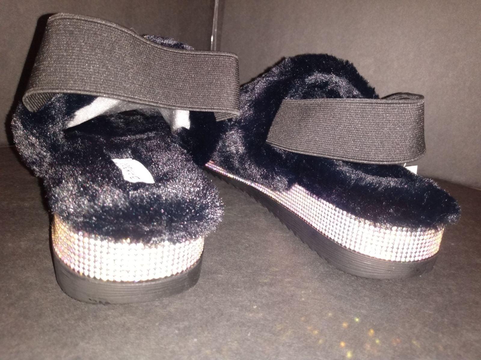 BRAND NEW Faux Fur Slides