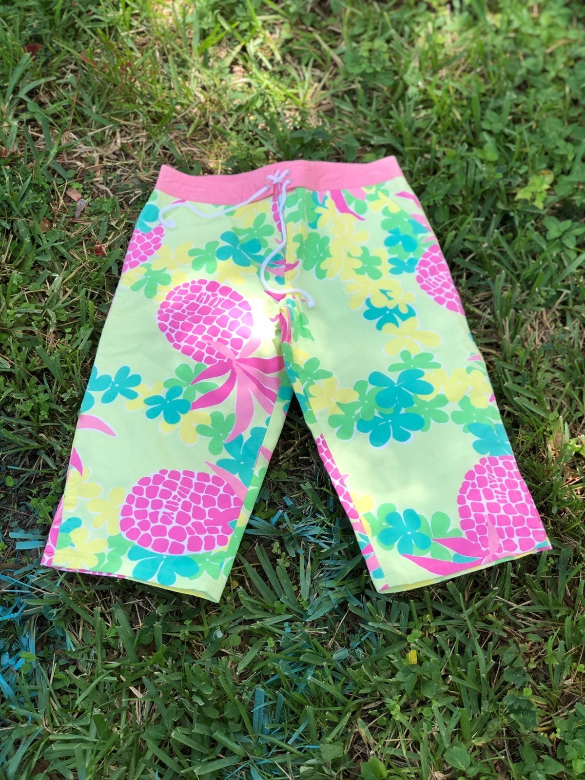 lily pulitzer PINK PINEAPPLE girls crop