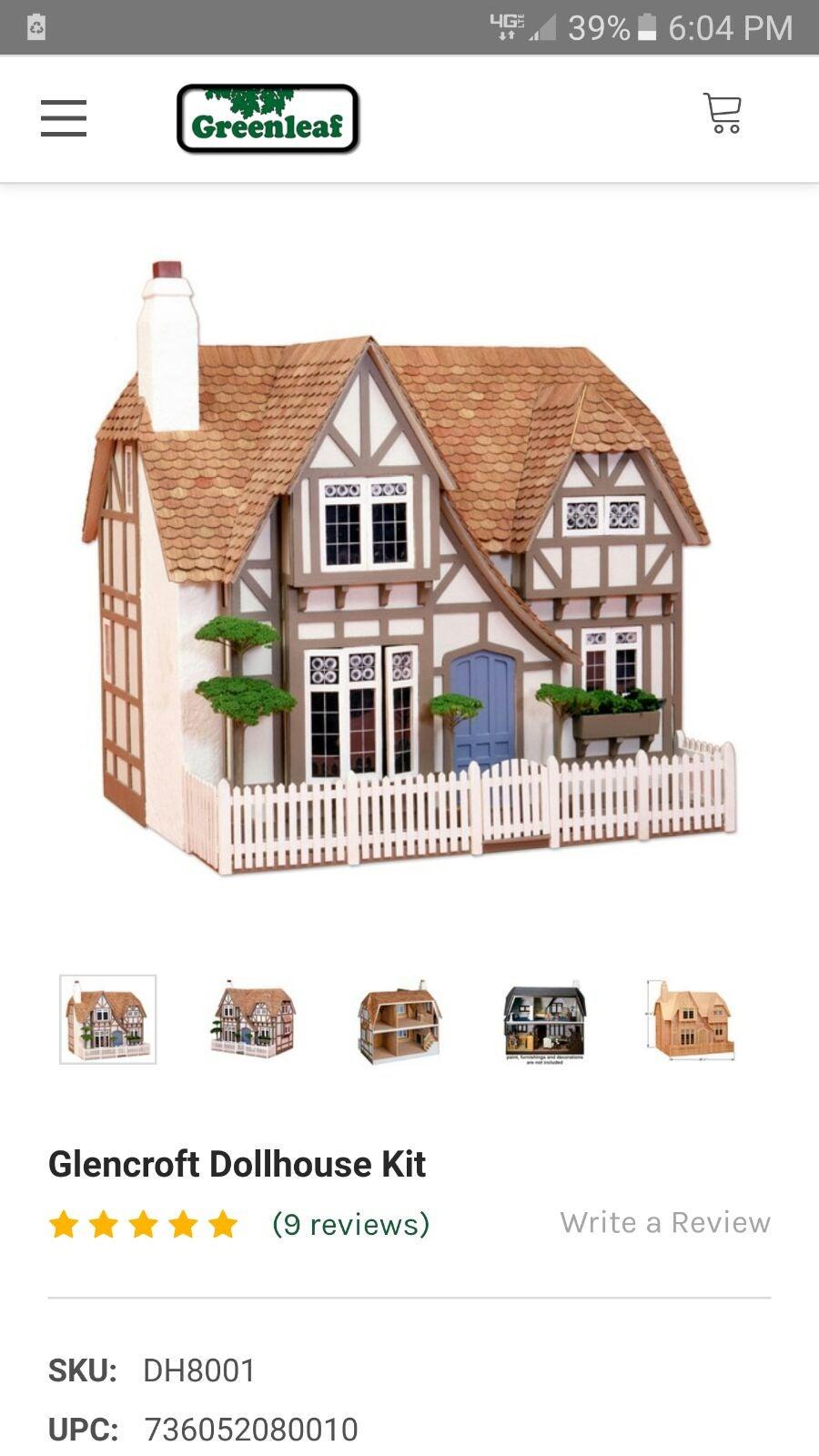 The Glencroft Wooden dollhouse kit