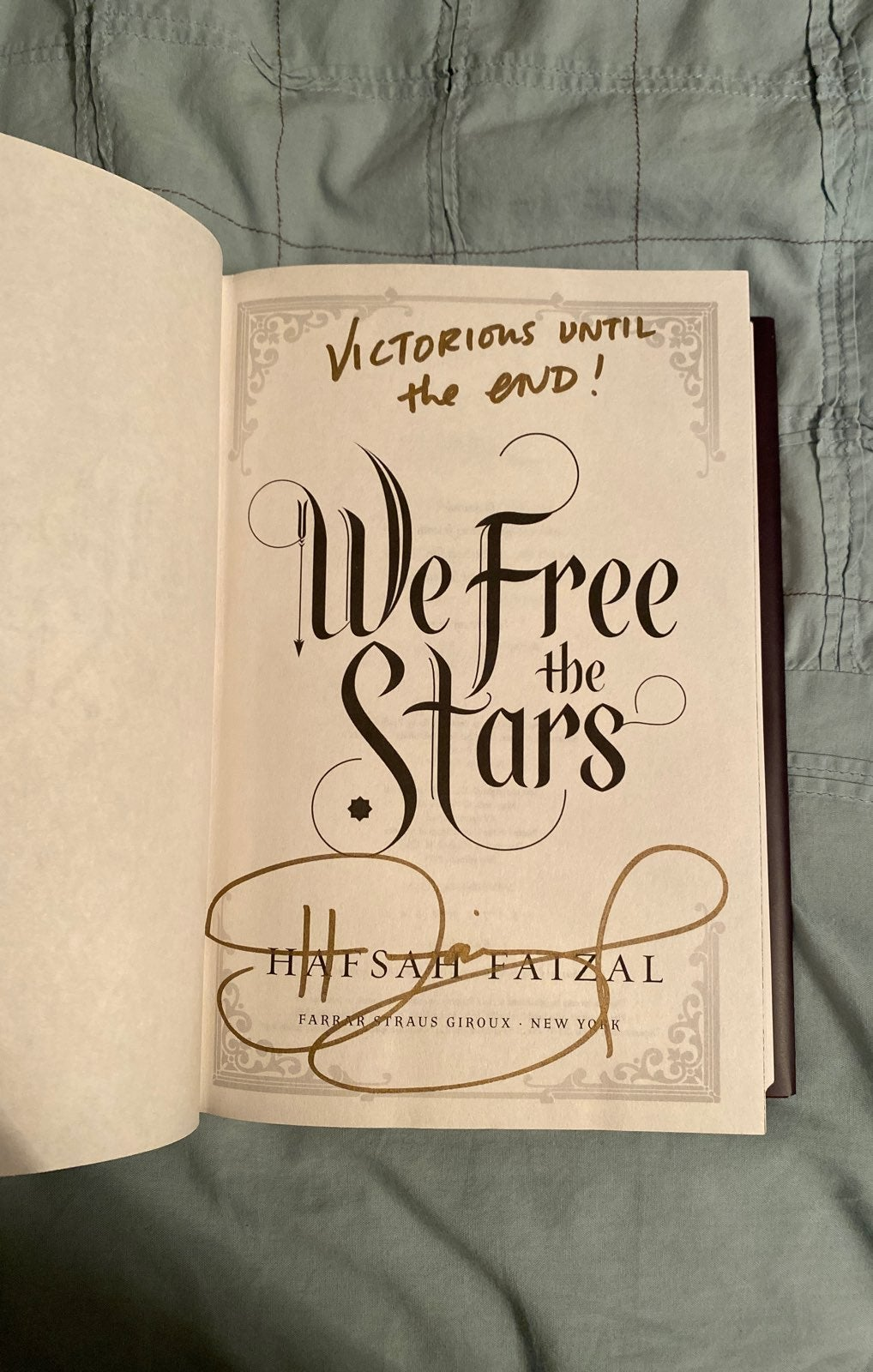 Signed w/quote We free the stars
