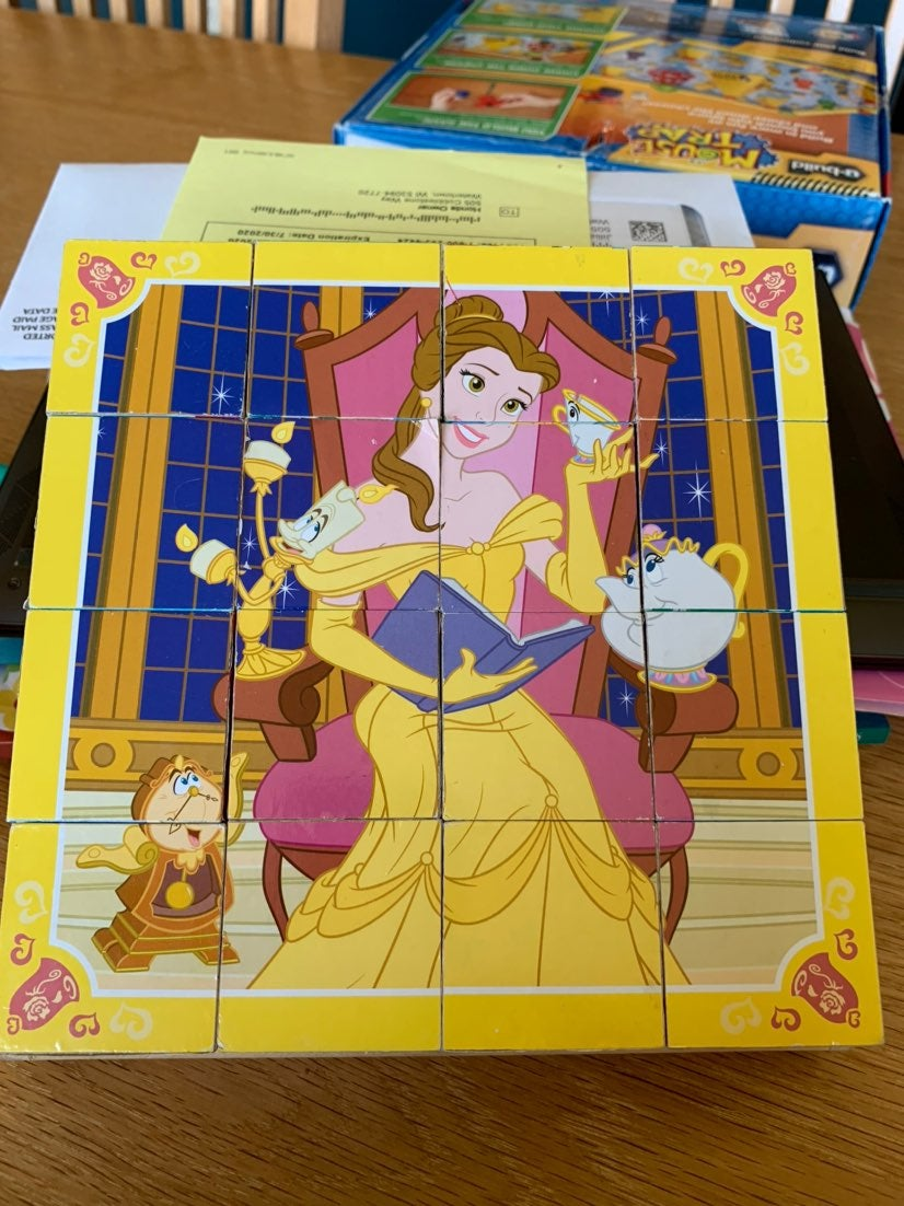 Disney Princess Wooden Cube Puzzles