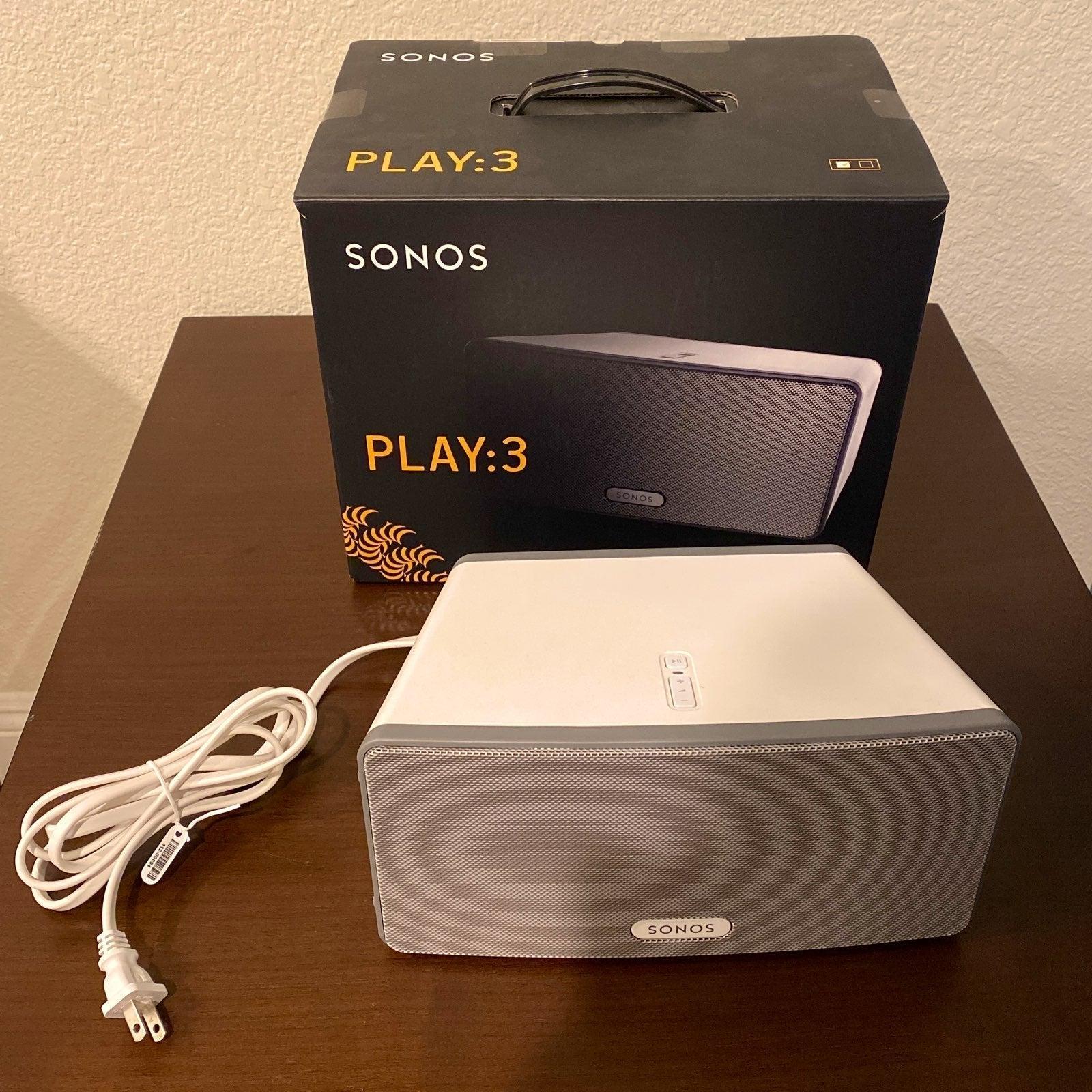 Sonos play: 3 wireless speaker white