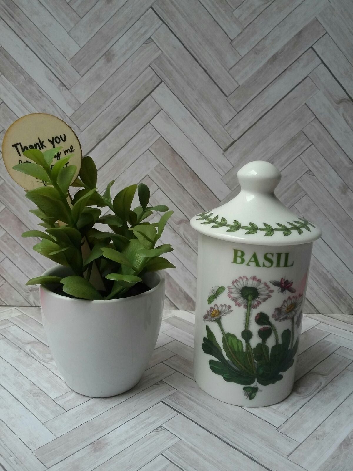 Portmeirion botanic garden Basil Jar