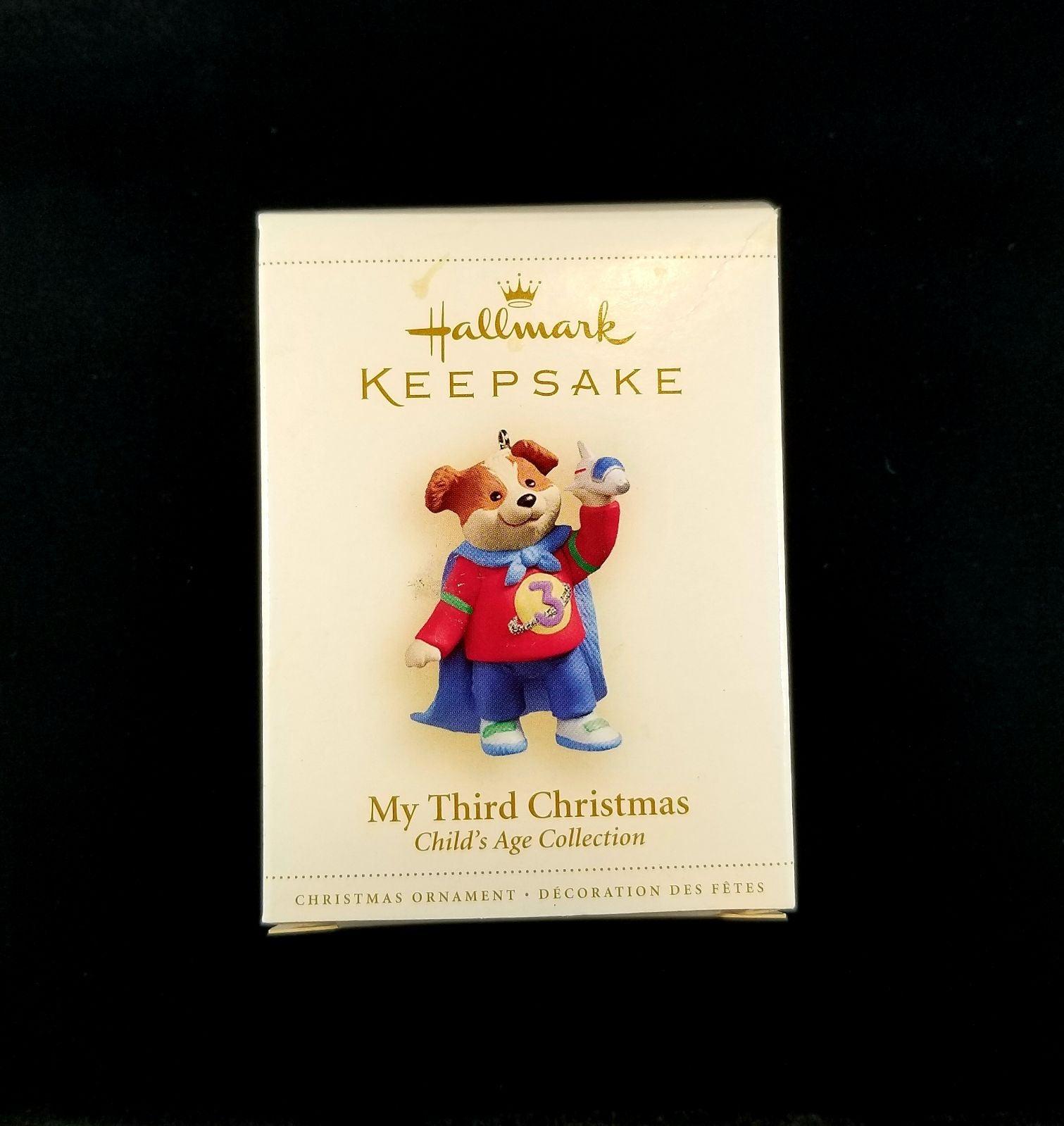 Hallmark Keepsake Ornament My 3rd Xmas
