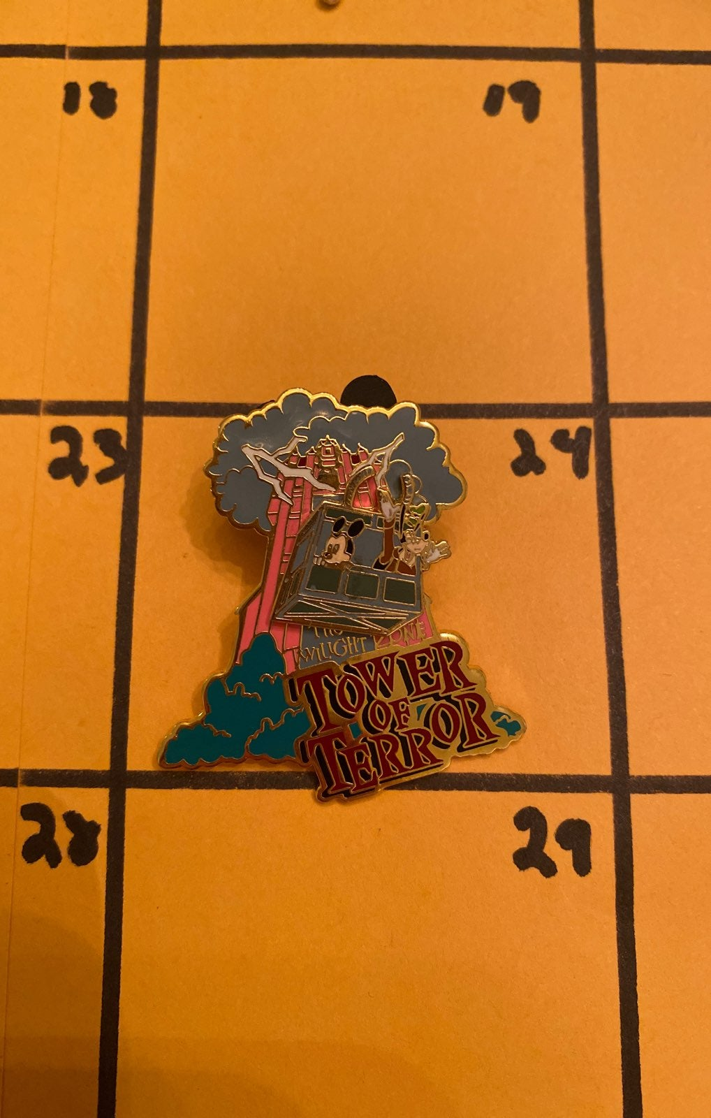 Tower of terror Disney pin
