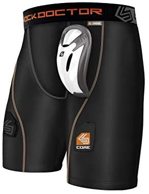 Shock doctor compression short with cup