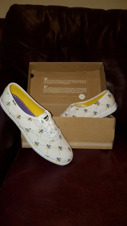 NEW Keds Fleur De Lis White Sneakers