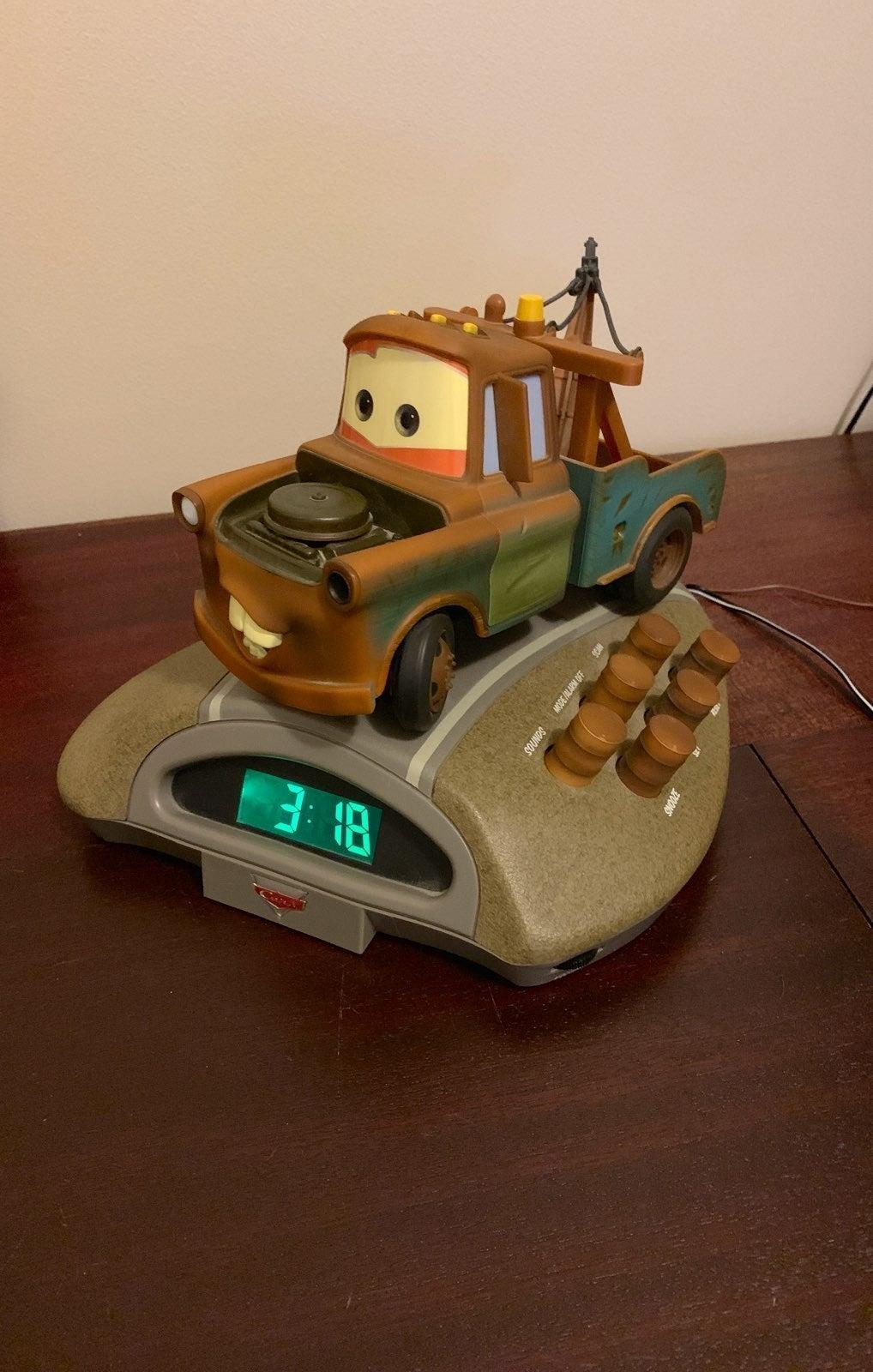 Cars Mater Talking Alarm Clock Radio