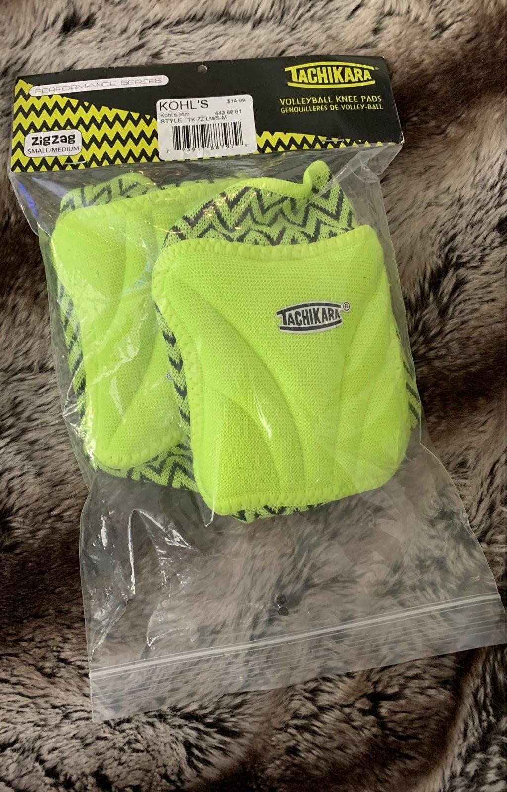 Neon volleyball kneepads junior