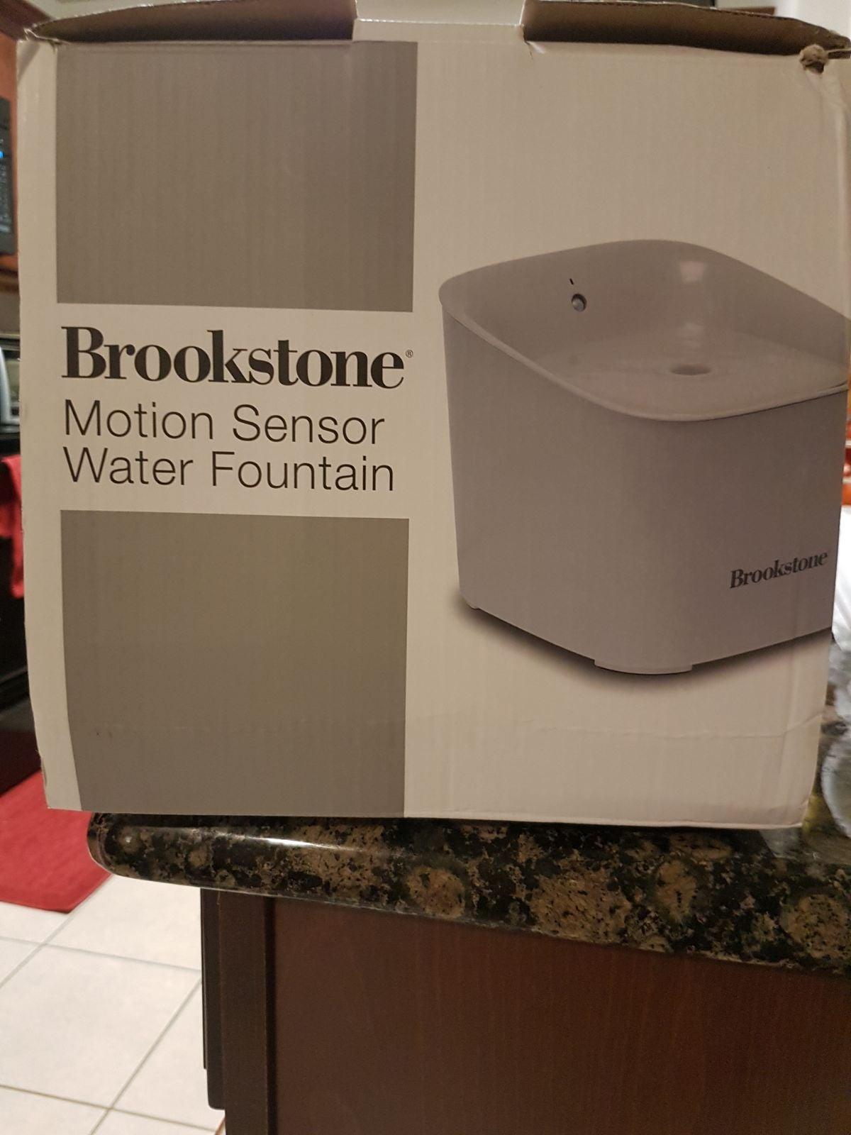 Brookstone® Motion Sensor Pet Water Foun