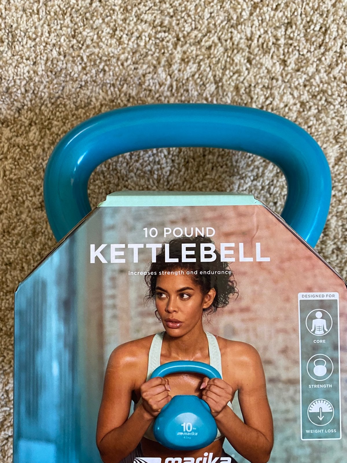 Marika 10 LB Pound Kettlebell Weight