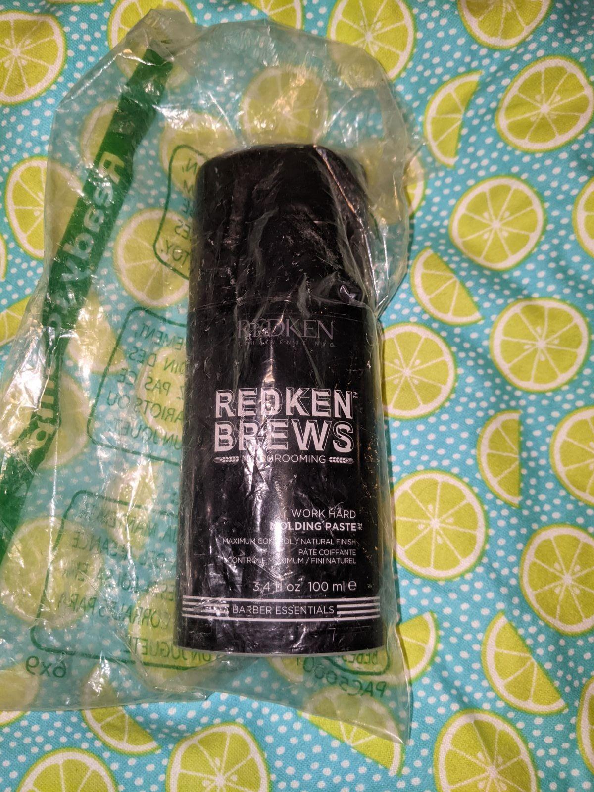 Redken brews work hard molding paste