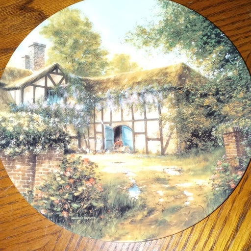 Cottage Around the Bend Porcelain Plate